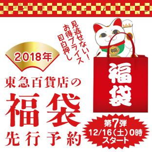 東急百貨店の2018福袋先行予約