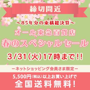 春のスペシャルセール 締切間近3月31日(火)17時まで