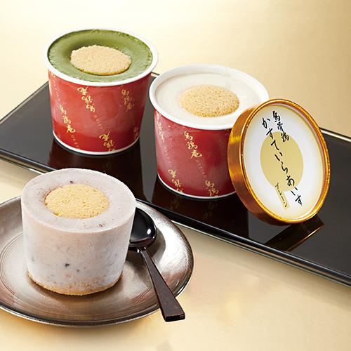 [金沢]〈烏鶏庵〉烏骨鶏かすていらカップあいす詰合せ