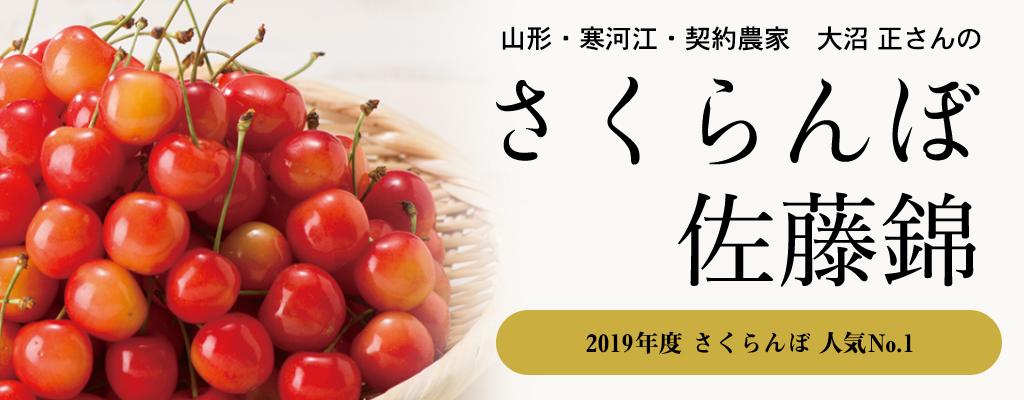 山形・寒河江・契約農家 大沼 正さんのさくらんぼ「佐藤錦」