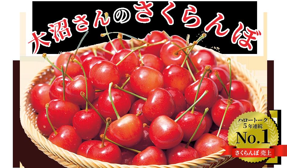 大沼さんのさくらんぼ ハロートークさくらんぼ売上5年連続 No.1