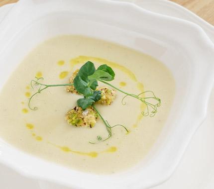 ちょい足し料理 スープにオリーブオイル