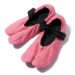 ≪足袋の友≫中敷き付き足袋型ルームシューズ ピンク