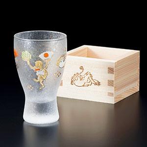 ≪アデリア≫6785<LUCKY ANIMALS> 升酒グラス かえる