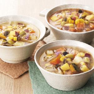 1/3日分の野菜が摂れる10種の野菜スープ3種セット 計9袋