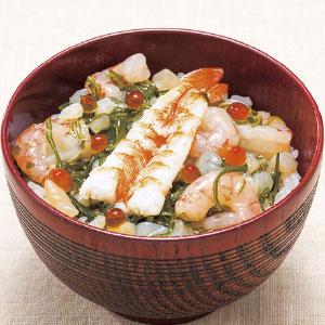 〈東日本フーズ〉海鮮ぶっかけ丼 えび (3袋)