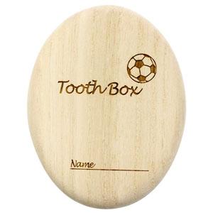 ≪ビーグラッド≫楕円形乳歯ケース(サッカーボール)