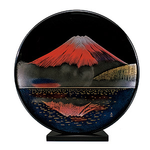≪夢東≫写し赤富士 飾り皿