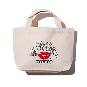 ≪KISS,TOKYO≫くっきー!コラボ渋谷をつまみ食い!トートバッグ S