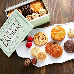 ≪ビスキュイテリエ ブルトンヌ≫ブルターニュ クッキーアソルティ<缶> 23個入