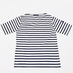 ◎≪SAINT JAMES≫PIRIAC半袖Tシャツ(NEIGE/MARINE)