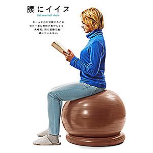 ≪エルガム≫バランスボール 腰にイイス55cm