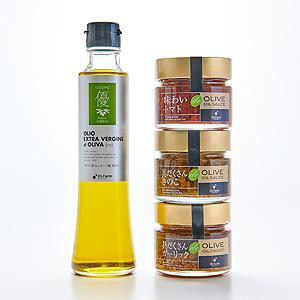 ≪O's Farm(オーズファーム)≫エキストラバージンオリーブオイル&食べるオリーブオイルソースのギフト