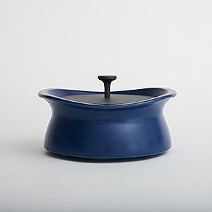 ≪best pot≫25cm shallow インディゴブルー