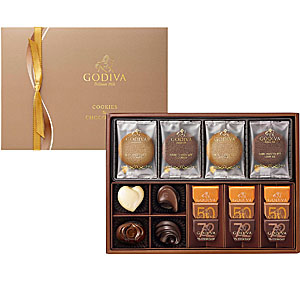 ≪ゴディバ≫クッキー&チョコレート アソートメント(クッキー8枚 チョコレート13粒) ☆
