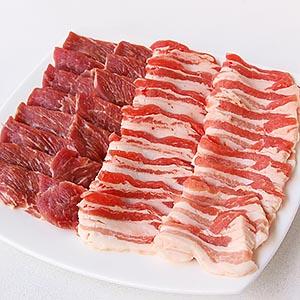 ≪精肉あづま≫神奈川県産高座豚 2種食べ比べ焼肉用セット ☆