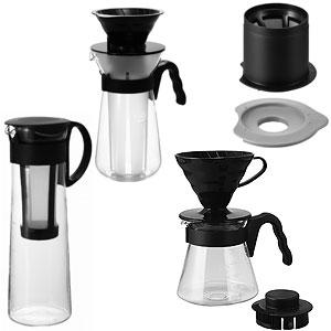 ≪HARIO≫コーヒー器具4点セット(ブラウン)
